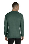 Jerzees 91MR Mens Vintage Snow French Terry Crewneck Sweatshirt Heather Forest Green Back