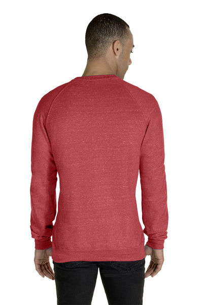 Jerzees 91MR Mens Vintage Snow French Terry Crewneck Sweatshirt Heather Red Back