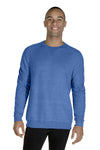 Jerzees 91MR Mens Vintage Snow French Terry Crewneck Sweatshirt Heather Royal Blue Front