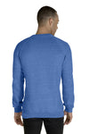 Jerzees 91MR Mens Vintage Snow French Terry Crewneck Sweatshirt Heather Royal Blue Back