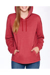 Next Level 9300 Mens PCH Fleece Hooded Sweatshirt Hoodie Cardinal Red Front