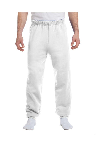 Jerzees 973 Mens NuBlend Fleece Sweatpants White Front