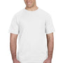 Anvil Mens White Short Sleeve Crewneck T-Shirt