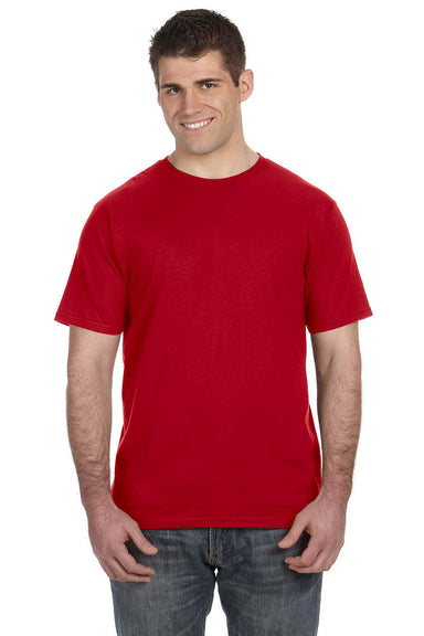 Anvil 980 Mens Short Sleeve Crewneck T-Shirt Red Front