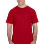 Anvil Mens Red Short Sleeve Crewneck T-Shirt