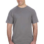 Anvil Mens Storm Grey Short Sleeve Crewneck T-Shirt