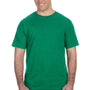 Anvil Mens Heather Green Short Sleeve Crewneck T-Shirt