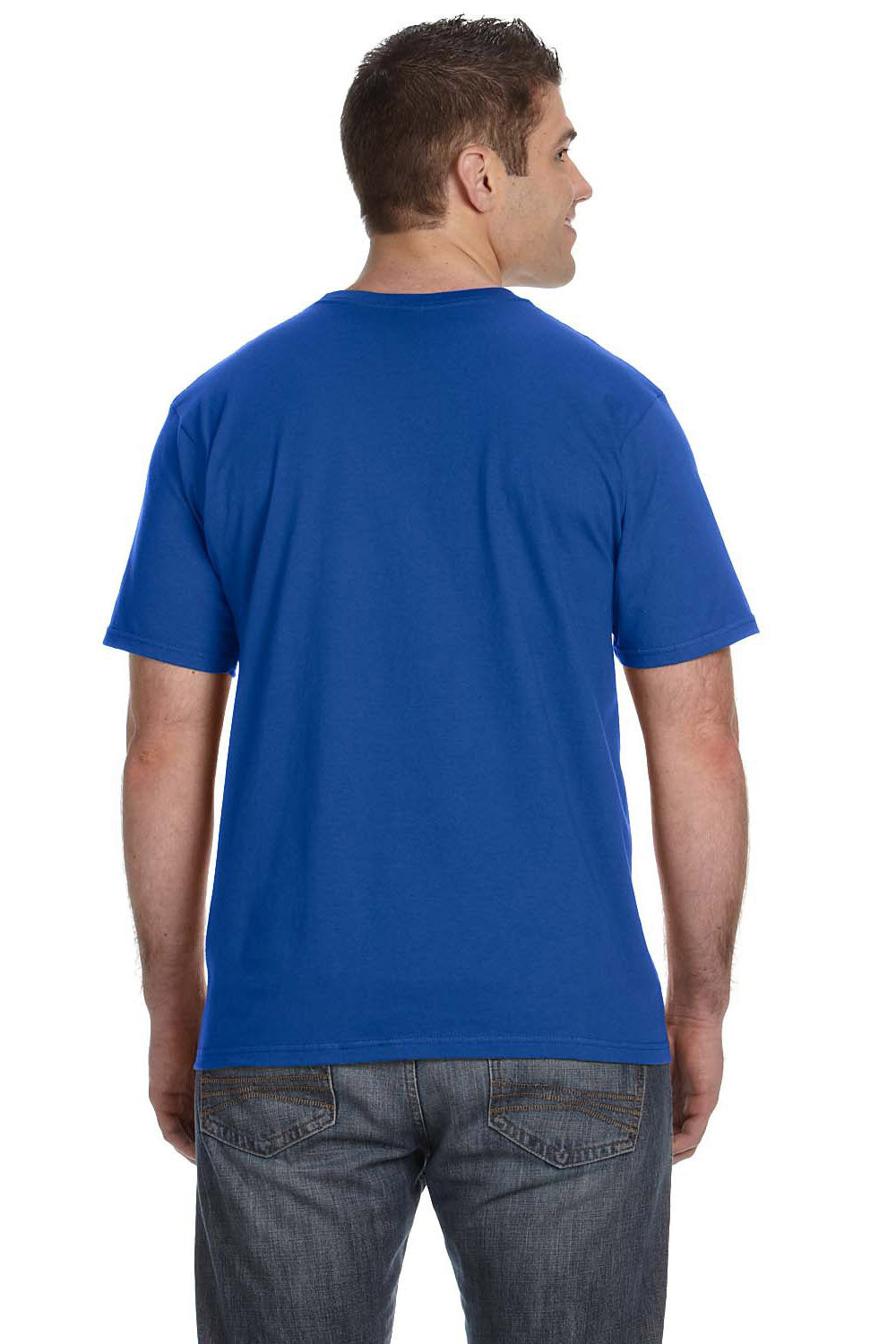 Anvil 980 Mens Short Sleeve Crewneck T-Shirt Royal Blue Back