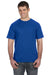 Anvil 980 Mens Short Sleeve Crewneck T-Shirt Royal Blue Front