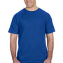 Anvil Mens Royal Blue Short Sleeve Crewneck T-Shirt