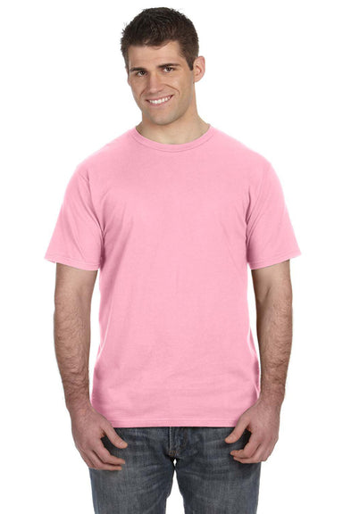 Anvil 980 Mens Short Sleeve Crewneck T-Shirt Charity Pink Front