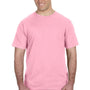 Anvil Mens Charity Pink Short Sleeve Crewneck T-Shirt