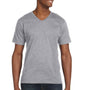 Anvil Mens Heather Grey Short Sleeve V-Neck T-Shirt