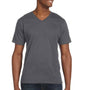 Anvil Mens Charcoal Grey Short Sleeve V-Neck T-Shirt