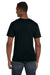 Anvil 982 Mens Short Sleeve V-Neck T-Shirt Black Back