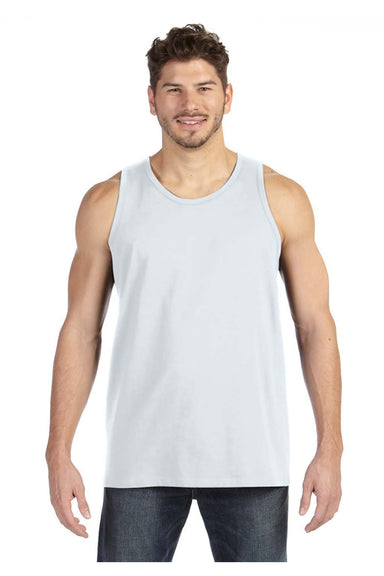 Anvil 986 Mens Tank Top White Front