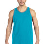 Anvil Mens Caribbean Blue/Grey Tank Top