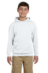 Jerzees 996Y Youth NuBlend Fleece Hooded Sweatshirt Hoodie Ash Grey Front