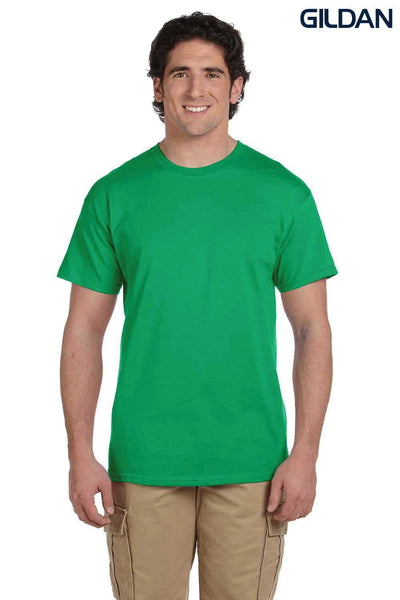 Gildan G200 Mens Cotton Short Sleeve Crewneck T-Shirt Irish Green Front