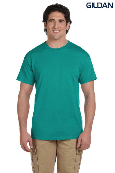 Gildan G200 Mens Cotton Short Sleeve Crewneck T-Shirt Jade Green Front
