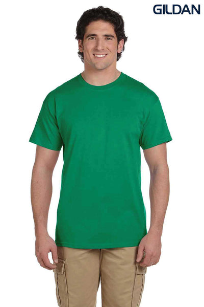 Gildan G200 Mens Cotton Short Sleeve Crewneck T-Shirt Kelly Green Front