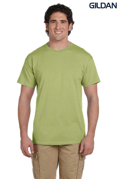 Gildan G200 Mens Cotton Short Sleeve Crewneck T-Shirt Kiwi Green Front