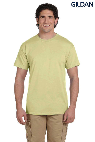 Gildan G200 Mens Cotton Short Sleeve Crewneck T-Shirt Pistachio Green Front