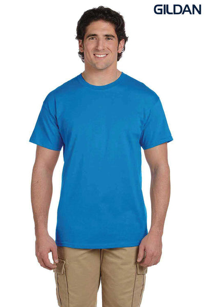 Gildan G200 Mens Cotton Short Sleeve Crewneck T-Shirt Sapphire Blue Front