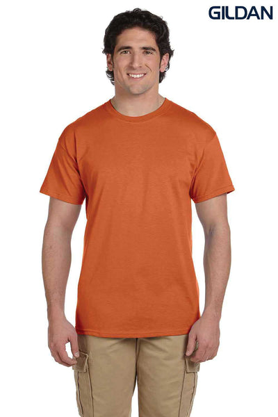 Gildan G200 Mens Cotton Short Sleeve Crewneck T-Shirt Texas Orange Front