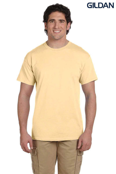 Gildan G200 Mens Cotton Short Sleeve Crewneck T-Shirt Vegas Gold Front