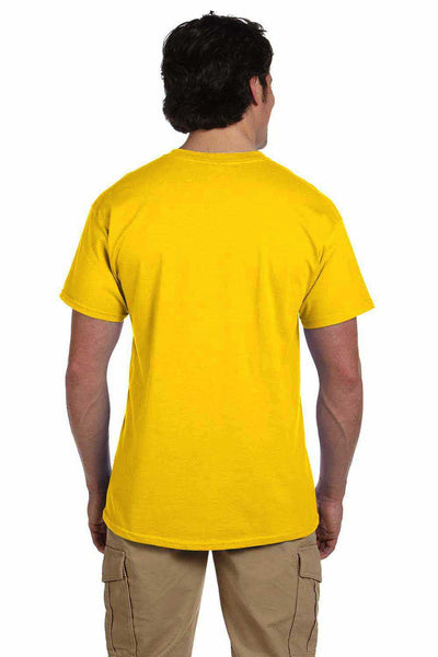 Gildan G200 Mens Cotton Short Sleeve Crewneck T-Shirt Daisy Yellow Back