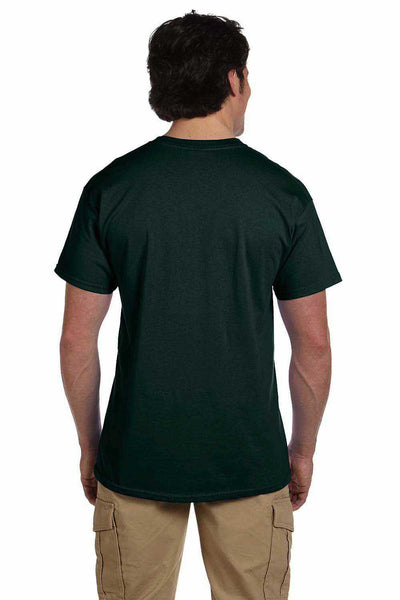 Gildan G200 Mens Cotton Short Sleeve Crewneck T-Shirt Forest Green Back