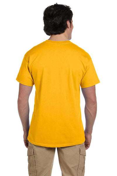 Gildan G200 Mens Cotton Short Sleeve Crewneck T-Shirt Gold Back