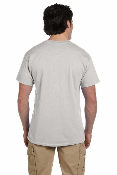 Gildan G200 Mens Cotton Short Sleeve Crewneck T-Shirt Ice Grey Back