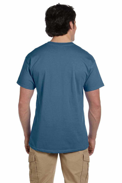 Gildan G200 Mens Cotton Short Sleeve Crewneck T-Shirt Indigo Blue Back