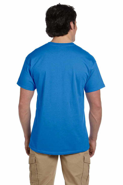 Gildan G200 Mens Cotton Short Sleeve Crewneck T-Shirt Iris Blue Back