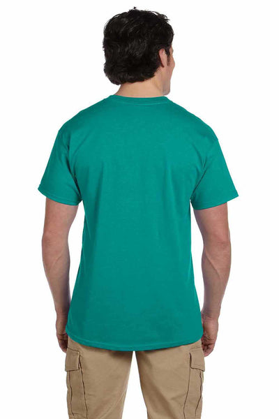 Gildan G200 Mens Cotton Short Sleeve Crewneck T-Shirt Jade Green Back