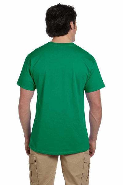 Gildan G200 Mens Cotton Short Sleeve Crewneck T-Shirt Kelly Green Back