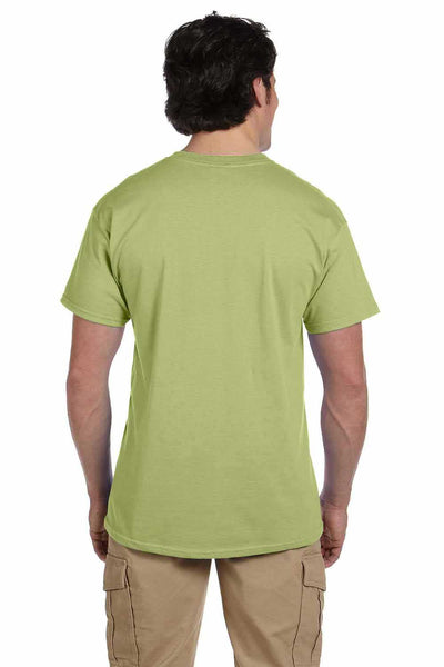 Gildan G200 Mens Cotton Short Sleeve Crewneck T-Shirt Kiwi Green Back
