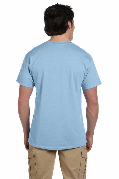 Gildan G200 Mens Cotton Short Sleeve Crewneck T-Shirt Light Blue Back