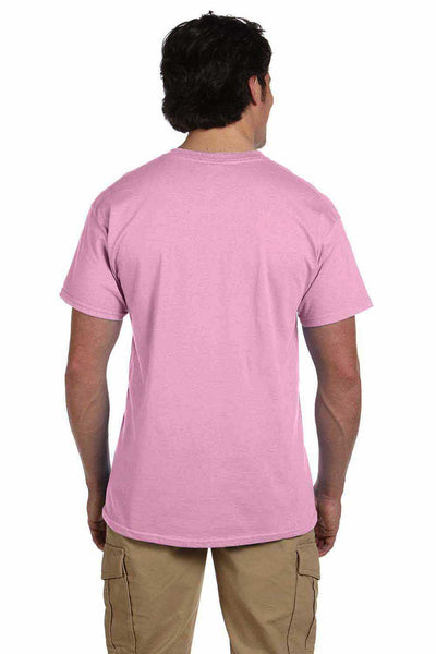 Gildan G200 Mens Cotton Short Sleeve Crewneck T-Shirt Light Pink Back