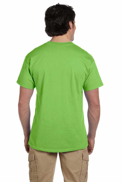 Gildan G200 Mens Cotton Short Sleeve Crewneck T-Shirt Lime Green Back