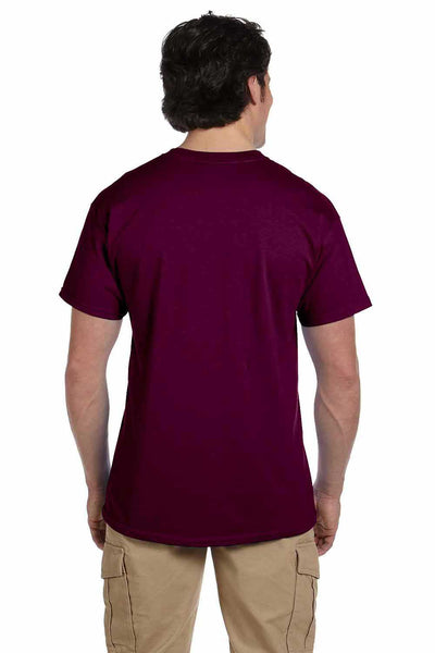 Gildan G200 Mens Cotton Short Sleeve Crewneck T-Shirt Maroon Back