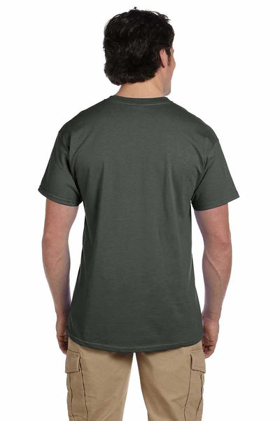Gildan G200 Mens Cotton Short Sleeve Crewneck T-Shirt Military Green Back