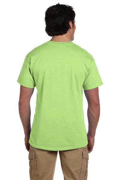 Gildan G200 Mens Cotton Short Sleeve Crewneck T-Shirt Mint Green Back