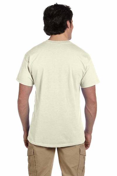Gildan G200 Mens Cotton Short Sleeve Crewneck T-Shirt Natural Back