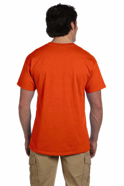 Gildan G200 Mens Cotton Short Sleeve Crewneck T-Shirt Orange Back