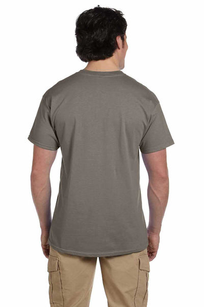 Gildan G200 Mens Cotton Short Sleeve Crewneck T-Shirt Prairie Dust Brown Back