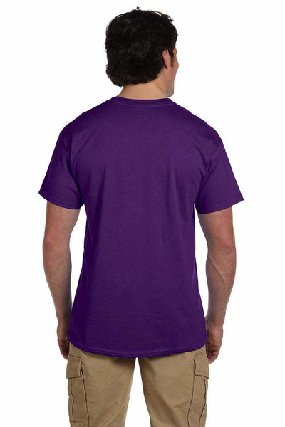 Gildan G200 Mens Cotton Short Sleeve Crewneck T-Shirt Purple Back