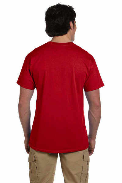 Gildan G200 Mens Cotton Short Sleeve Crewneck T-Shirt Red Back